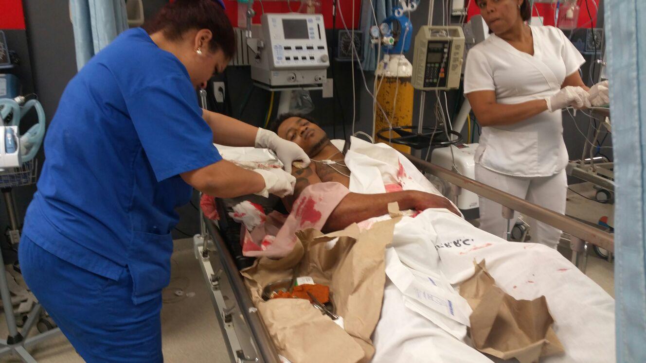 Supuestos delincuentes heridos por la policía